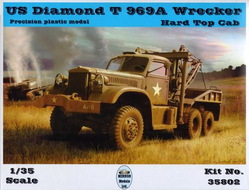Mirror Models 1/35 US Diamond T969A Wrecker Truck with Hard Top Cab # 35802