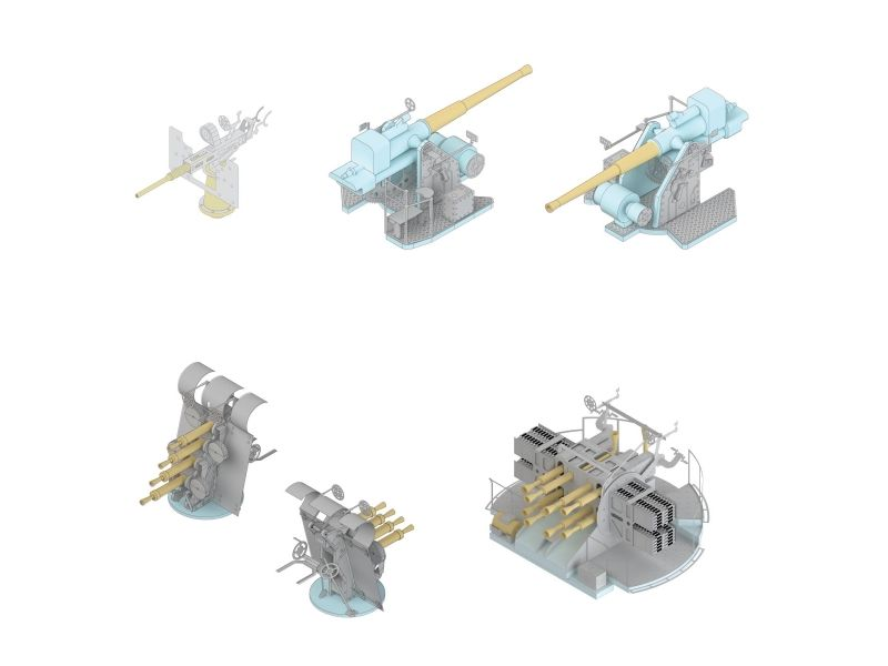 Mk.1 Design 1/200 HMS Rodney Armament Set # MS-20013