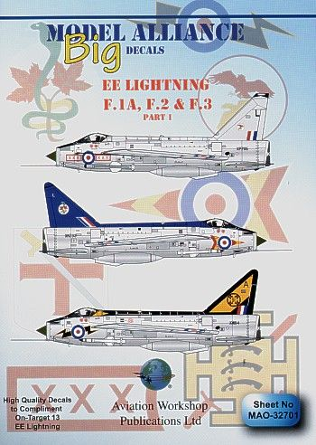 Model Alliance 1/32 BAC/EE Lightning F.1A, F.2 and F.3 Part 1 # O32701