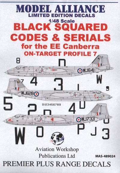 Model Alliance 1/48 Black Squared Codes and Serials for BAC/EE C