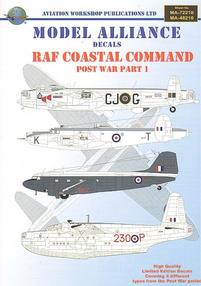 Model Alliance 1/48 RAF Coastal Command Post War Part I # 48210