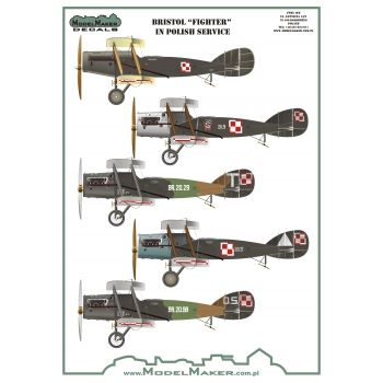 Model Maker Decals 1/32 Bristol Fighter F.2B in Polish Service # MD32094