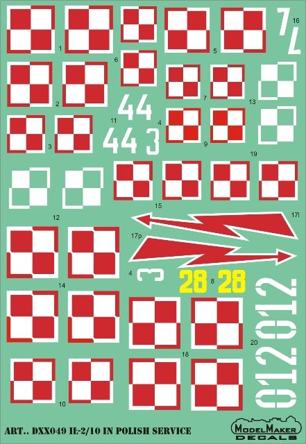 Model Maker Decals 1/48 Il-2/10 in Polish Service # D48049