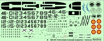 Model Maker Decals 1/72 F/A-18 Spain Standard Markings + Stencils # D72089