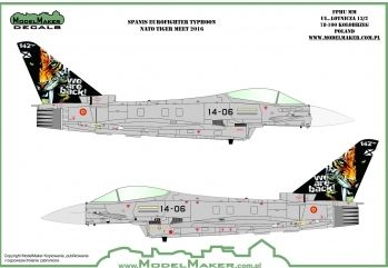 Model Maker Decals 1/72 Spanish Eurofighter EF-2000A Typhoon NATO Tiger Meet 2016 # D72113