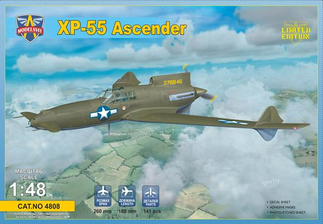 Modelsvit 1/48 Curtiss-Wright XP-55 Ascender # 4808