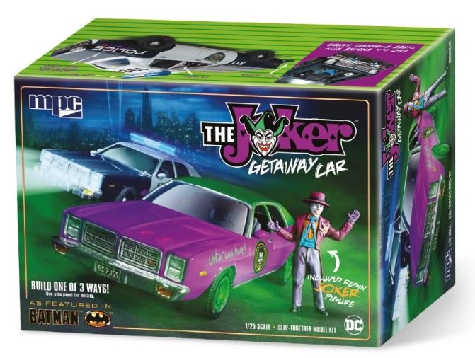 MPC 1/25 Batman The Joker Getaway Car 1978 Dodge Monaco with Joker Figure # 890