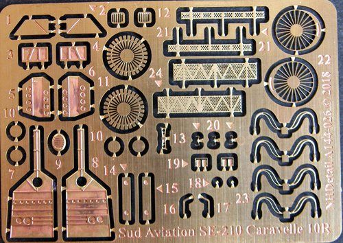 NH Detail 1/144 Sud Aviation SE-210 Caravelle 10R Detail Set # NHA144026