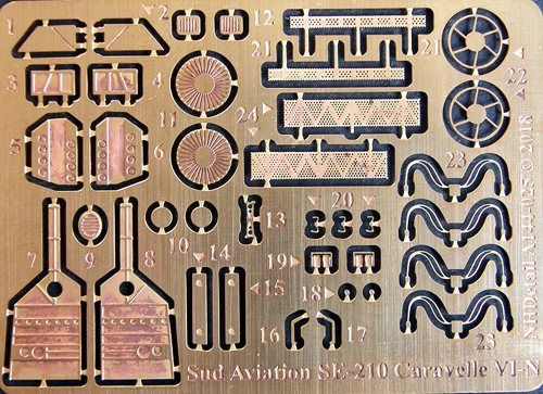 NH Detail 1/144 Sud Aviation SE-210 Caravelle VI-N Detail Set # NHA144025