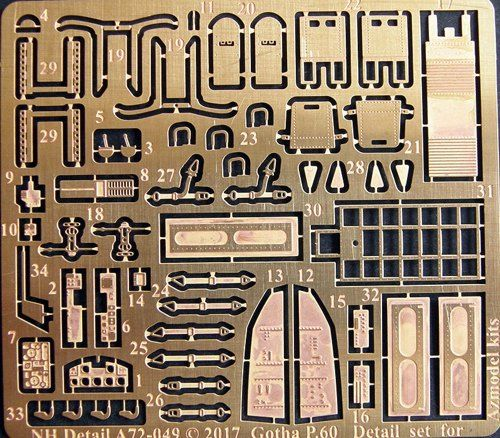 NH Detail 1/72 Gotha P.60 Detail Set # NHA72049