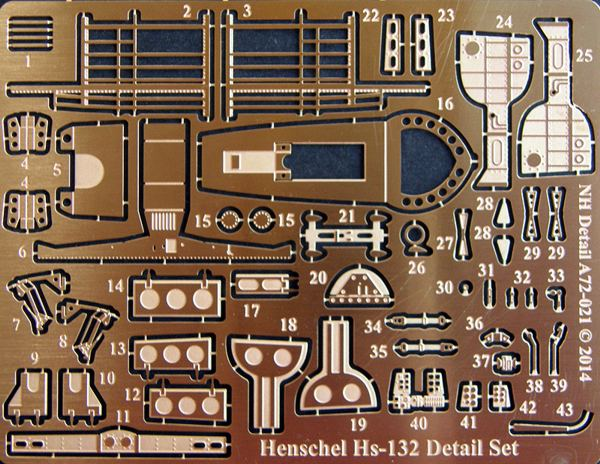 NH Detail 1/72 Henschel Hs-132 Detail Set # NHA72021