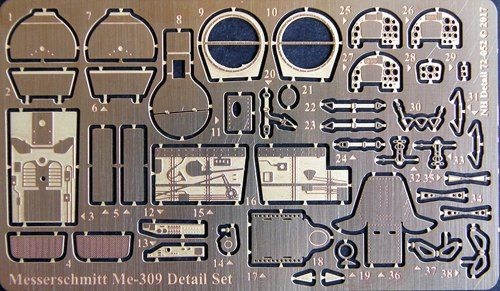 NH Detail 1/72 Messerschmitt Me-309 Detail Set # NHA72052