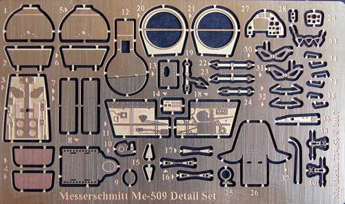 NH Detail 1/72 Messerschmitt Me-509 Detail Set # NHA72053