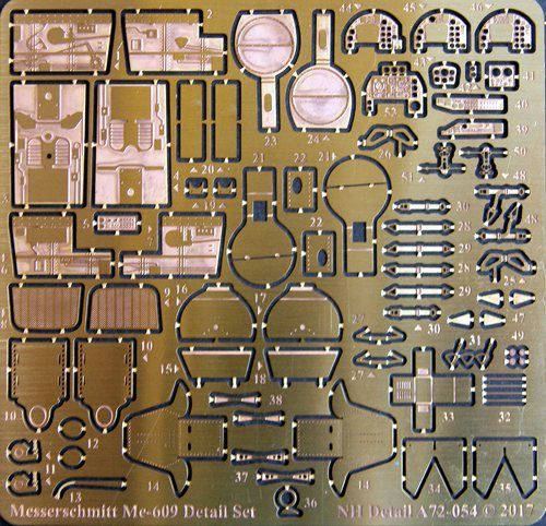 NH Detail 1/72 Messerschmitt Me-609 Detail Set # NHA72054