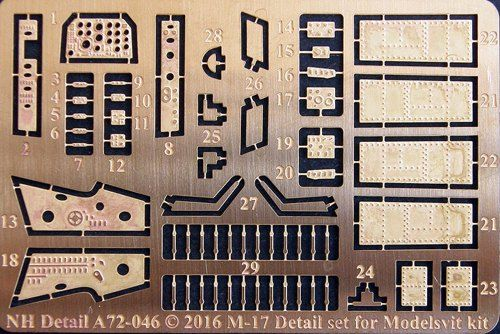 NH Detail 1/72 Myasishchev M-17 Detail Set # NHA72046