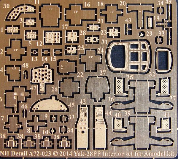 NH Detail 1/72 Yakovlev Yak-28PP Interior Set # NHA72023