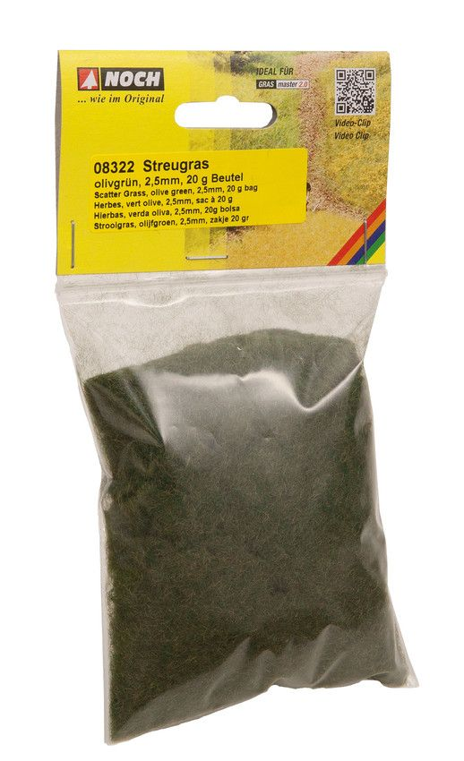 NOCH - Olive Green Scatter Grass 2.5mm (20G) # N08322