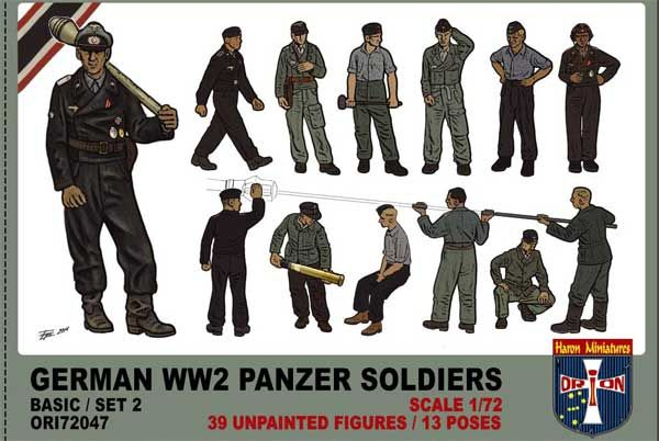 Orion 1/72 German Panzer Soldiers (WWII) Set 2 # 72047