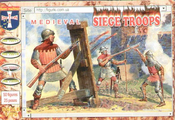 Orion 1/72 Medieval Siege Troops # 72019