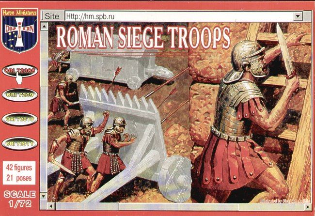 Orion 1/72 Roman Siege Troops # 72008