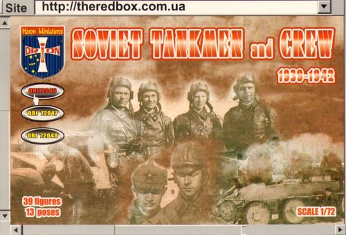 Orion 1/72 Soviet Tankmen and Crew 1939-1942 # 72046