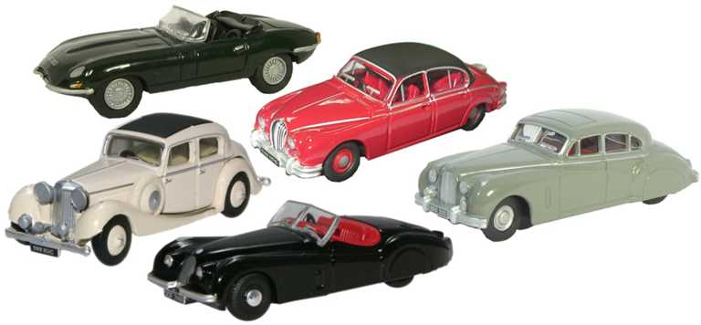 Oxford 1/76 5 Piece Jaguar Collection # 76SET14A