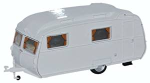 Oxford 1/76 Carlight Continental Caravan Arctic White # 76CC002
