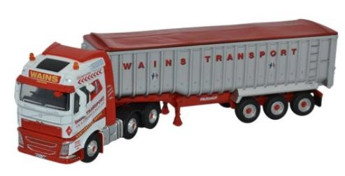 Oxford 1/76 Volvo FH4 (G) Tipper Wains Transport # 76VOL4004