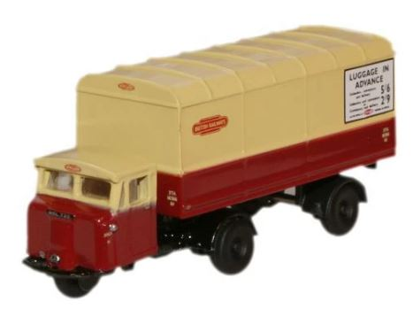 Oxford N:Gauge British Rail Scammell Mechanical Horse Van Traile