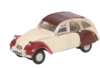 Oxford N: Gauge Citroen 2CV Plum/Custard # NCT005