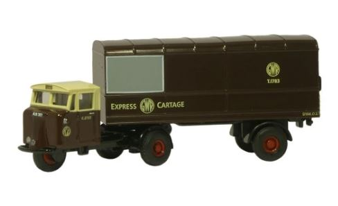 Oxford N: Gauge GWR Scammell Mechanical Horse Van Trailer# NMH01