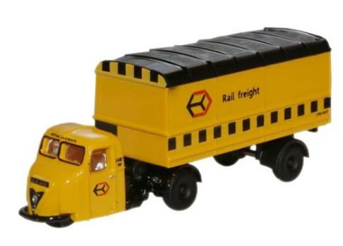 Oxford N Gauge Railfreight Scammell Scarab Van Trailer # NRAB009