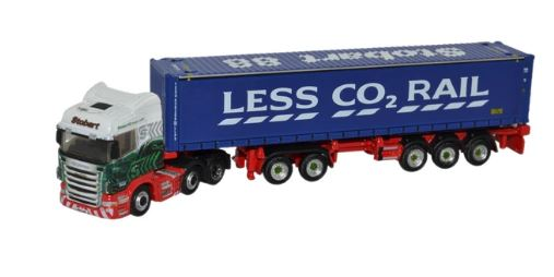 Oxford N: Gauge Scania Highline D-TEC Combitrailer Container Eddie Stobart # NSHL01CT