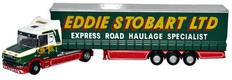 Oxford N Gauge Scania T Cab Curtainside Stobart # NTCAB001
