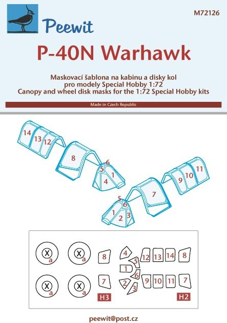 Peewit 1/72 Curtiss P-40N Warhawk # PEE72126