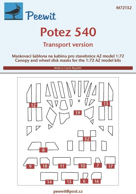 Peewit 1/72 Potez 540 Transport Version # PEE72132
