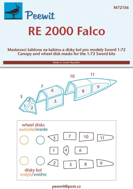 Peewit 1/72 Reggiane Re.2000 Falco # PEE72136