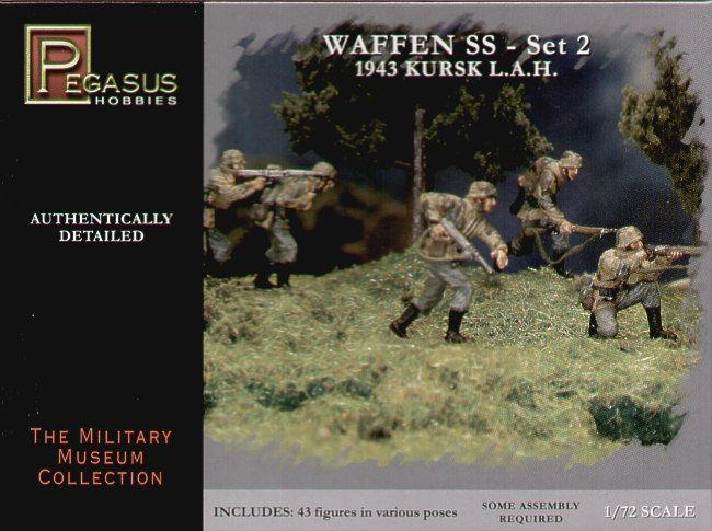 Pegasus Hobbies 1/72 German (WWII) Waffen SS. 1943 Kursk set 2 # 7202