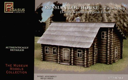 Pegasus Hobbies 1/72 Large Russian Two Storey Log House # 7704