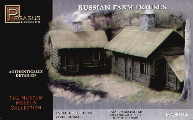 Pegasus Hobbies 1/72 Russian Farm Houses # 7702