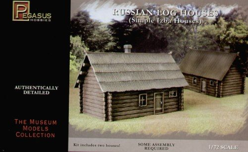 Pegasus Hobbies 1/72 Russian Log Houses (Izba) # 7703