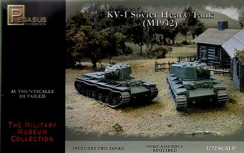 Pegasus Hobbies 1/72 Soviet KV-1 Late with Welded or Cast Turrets # 7666