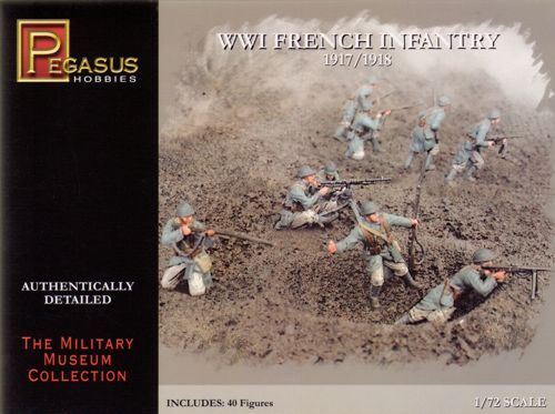 Pegasus Hobbies 1/72 WWI French Infantry # 7199