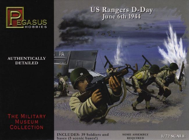 Pegasus Hobbies 1/72 WWII US Rangers D-Day # 7351