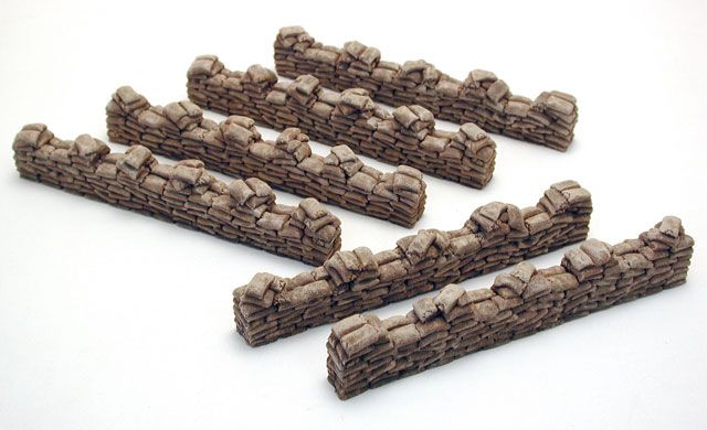 Pegasus Hobbies - Sandbags Straight x 6 # 5207