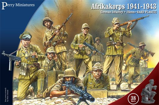 Perry Miniatures 28mm Afrika Korps 1941-1943 German Infantry # GWW1
