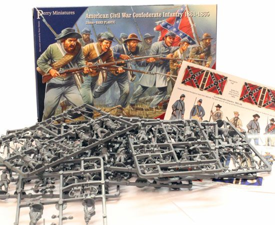 Perry Miniatures 28mm American Civil War Confederate Infantry 1861-1865 # ACW80