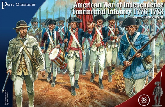 Perry Miniatures 28mm American War of Independence Continental Infantry # AW250
