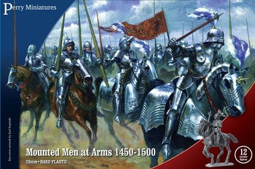 Perry Miniatures 28mm Mounted Men at Arms 1450-1500 # WR40