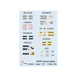 PJ Production Decals 1/72 NATO Military Vehicle Licence Plates # DEC09